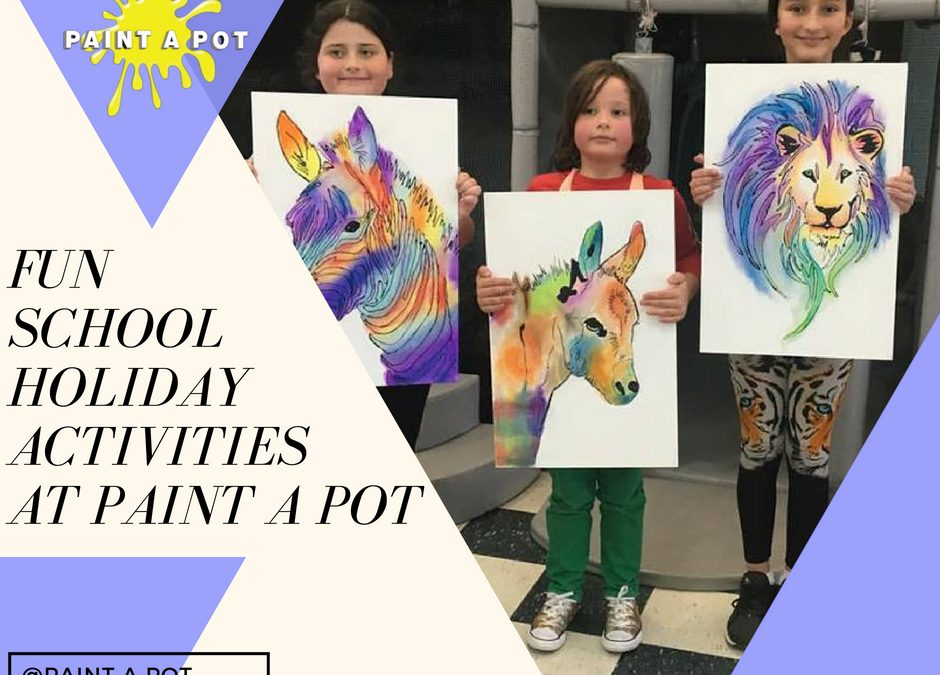 Fun School Holiday Activities at Paint a Pot