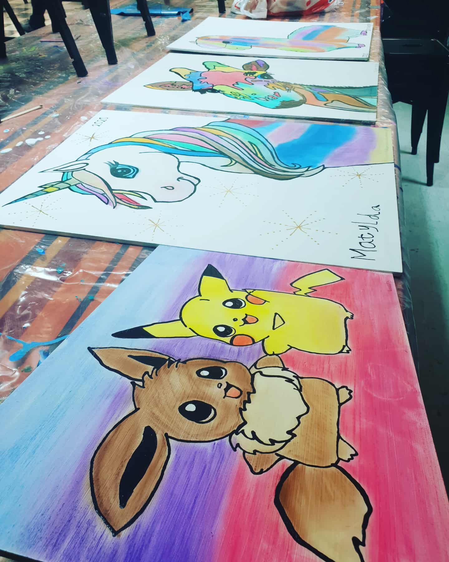 Paint a Pot Studios - Kids Paintings